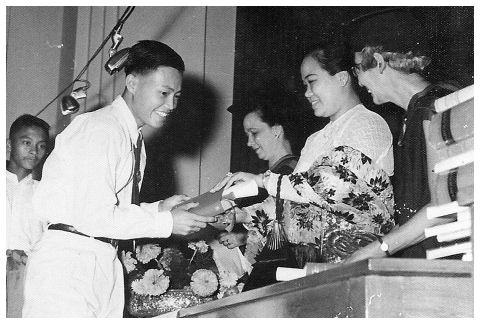 1958 Graduation Ceremony