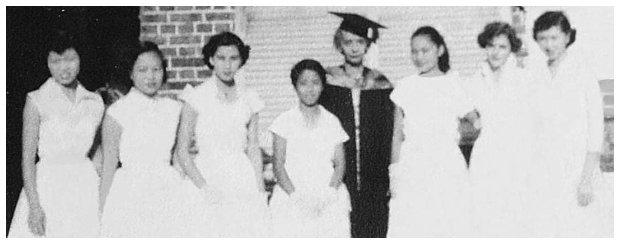 1955 Graduates with Mrs. Rosair