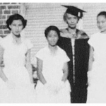 1955 Graduates with Mrs. Rosair