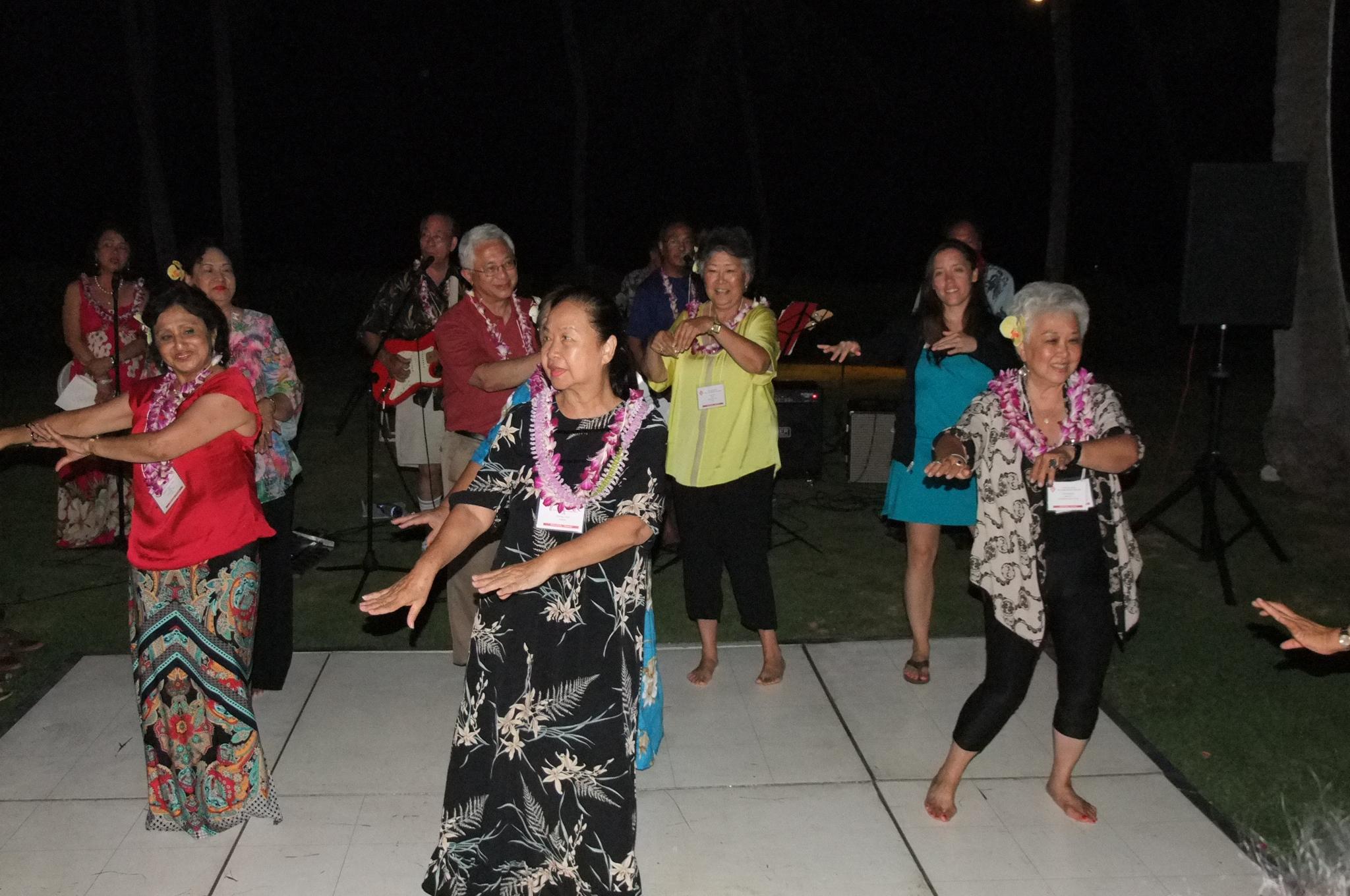 "Swaying to ""Aloha Oe"" with (Faith) Tin Myaing Thein"